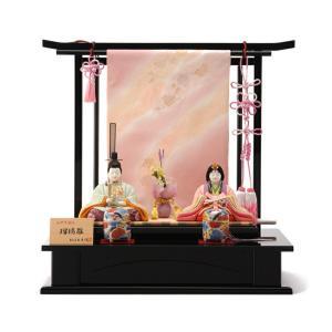 雛人形 飾り方 コンパクト おしゃれ 木目込み 瑠璃雛 柿沼東光作 h253-mi-kt-214a 雛 人形 木目込人形飾り 平飾り コンパクト インテリア 親王飾り かわいい 2508-honpo