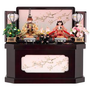 ひな人形 雛人形 久月 リカちゃん 収納飾り 親王飾り エンジ h283-ri-2746|2508-honpo