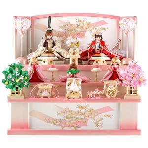 雛人形 リカちゃん 久月 ひな人形 収納飾り 三段飾り 五人飾り シリアル付 h313-ri-2766|2508-honpo