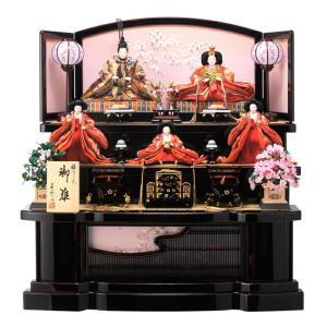 ひな人形 雛人形 三段 五人飾り 雅なこころ 桜祇園セット|2508-honpo