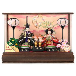 雛人形 コンパクト ひな人形 ケース飾り 親王飾り 本焼桐 ...