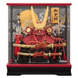 五月人形 真田幸村 兜ケース飾り 兜飾り 藤翁作 真田 アクリルケース オルゴール付 h305-fn-135-746|2508-honpo