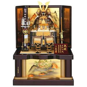 五月人形 久月 鎧収納飾り 鎧飾り 正絹緋糸裾濃縅 8号大鎧 h305-k-21108 K-106|2508-honpo
