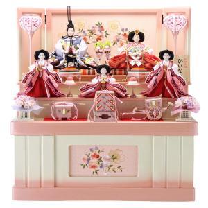 ひな人形 雛人形 五人飾り 収納飾り 三段飾り h263-hs-3-317-s|2508-honpo
