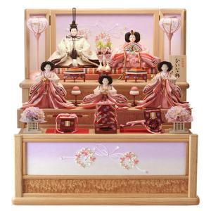 ひな人形 雛人形 五人飾り 収納飾り 三段飾り h263-hs-t3-356-s 2508-honpo
