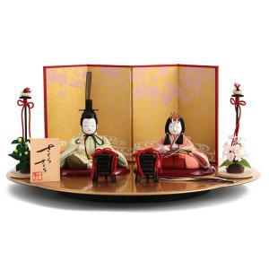 雛人形 一秀 ひな人形 木目込人形飾り 平飾り 親王飾り 木...