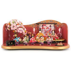 雛人形 ひな人形 木目込み 平飾り 七人飾り 花宴 h293-mi-kt3-55a 2508-honpo