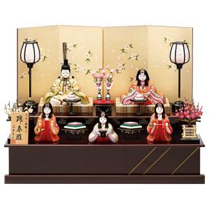 雛人形 真多呂 ひな人形 雛 木目込人形飾り 段飾り 五人飾り 真多呂作 古今段飾り 瑞春雛 入れ目 h313-mt-1367 2508-honpo