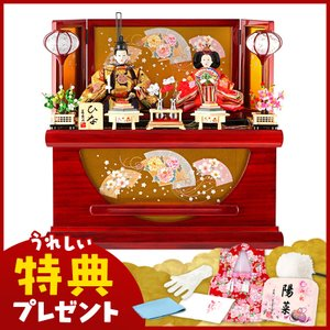 雛人形 ひな人形 雛 コンパクト収納飾り 親王飾り 美光作 ひな 新吉野 京箔屏風 h313-sb-sinyosino|2508-honpo
