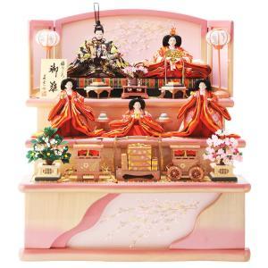 ひな人形 雛人形 五人飾り 三段飾り h263-sb-miyabi|2508-honpo