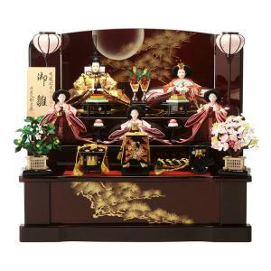 ひな人形 千匠 雛人形 収納飾り 五人飾り 三段飾り|2508-honpo