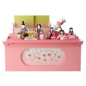 雛人形 ひな人形 木目込み 収納飾り 五人飾り 虹彩 h263-sz-1845-s26|2508-honpo