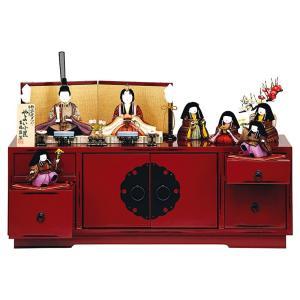 雛人形 吉徳大光 ひな人形 雛 木目込人形飾り コンパクト収納飾り 七人飾り 柿沼東光作 やよい小筐 h293-ys-335383 2508-honpo