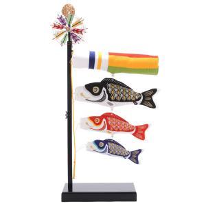 こいのぼり 村上 鯉のぼり 室内用 金銀鱗鯉 特中 ちりめん刺繍 h265-mkcp-uroko|2508-honpo