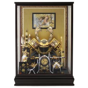 五月人形 兜飾り ケース飾り 嘉房作 彫金 h265-seys-001|2508-honpo