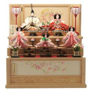 ひな人形 雛人形 コンパクト 収納飾り 三段飾り 五人飾り ...