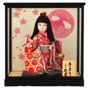 雛人形 コンパクト 久月 ひな人形 浮世人形 ケース飾り 都8 みゆき 手まり h283-k-miyako8-mi K-132|2508-honpo