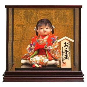 雛人形 久月 ひな人形 雛 浮世人形 ケース飾り 津田蓬生作 宝8 童 お手玉 h033-k-takara8-wa D-83|2508-honpo
