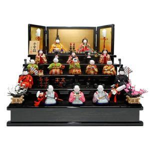 ひな人形 雛人形 コンパクト 原孝洲 木目込み 五段飾り 十五人飾り 子宝雛 h273-mohk-519|2508-honpo