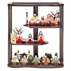 雛人形 真多呂 ひな人形 木目込人形飾り 三段飾り 十人飾り...