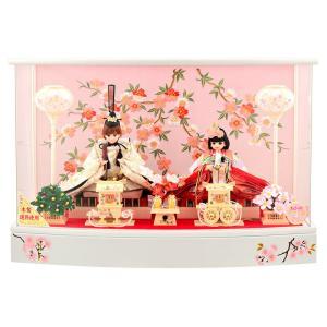 ひな人形 雛人形 久月 リカちゃん 親王飾り ケース飾り h273-ri-273|2508-honpo