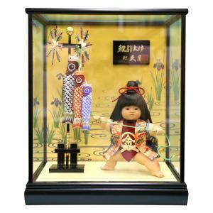 五月人形 久月 金太郎 ケース飾り 浮世人形 裸金太 鯉引上げ 8号 都印86 h305-k-toin86 K-133|2508-honpo