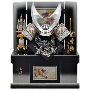 五月人形 兜収納飾り 兜飾り 宝童監修 銀竜彫金はやぶさ兜(B) 10号 会津塗 h305-mm-129|2508-honpo