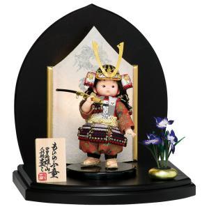 五月人形 豊久 子供大将飾り 武者人形 平飾り 鈴甲子雄山 ...