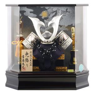 五月人形 吉徳 兜飾り ケース飾り 黒檀調 h275-yscp-537206|2508-honpo