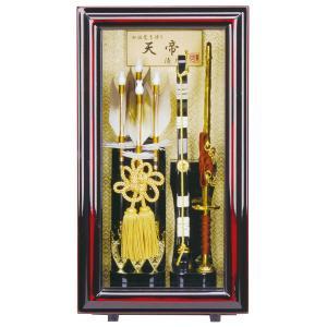 破魔弓 ケース飾り 額飾り 天帝 8号 額縁ケース スタンド付 h311-fz-1212-08-680|2508-honpo