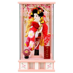 羽子板 初正月 ケース飾り パノラマ姫桜 10号 ピンク h281-mmcp-hime10p|2508-honpo