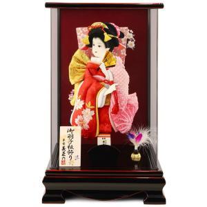 羽子板 初正月 ケース飾り 平安義正作 かれん 刺繍桜と梅 10号 h281-sb-karen10|2508-honpo