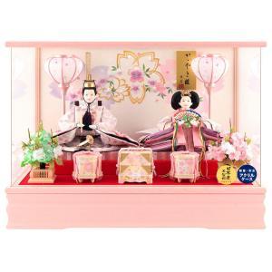 雛人形 コンパクト ひな人形 ケース飾り 親王飾り 藤翁作 ...