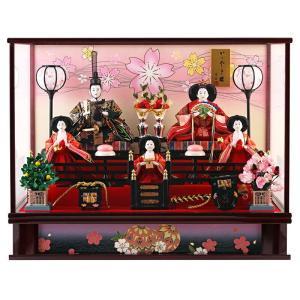 雛人形 コンパクト ひな人形 ケース飾り 五人飾り 藤翁作 ...