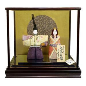 雛人形 久月 ひな人形 雛 木目込人形飾り ケース飾り 親王飾り 立雛 真多呂作 光悦立雛 h313-k-99236 2508-honpo