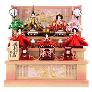 雛人形 久月 ひな人形 コンパクト収納飾り 三段飾り 五人飾り 金彩熨斗目 束帯十二単姿 h283-kcp-s28291nr|2508-honpo