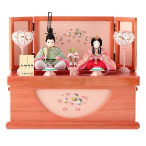 ひな人形 雛人形 木目込み 親王飾り 収納飾り コンパクト ひなもも h283-mi-kt-ns317|2508-honpo