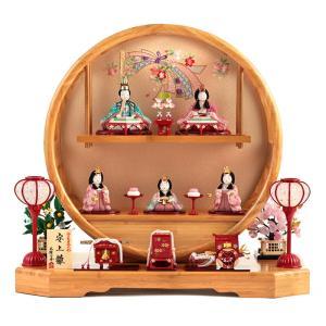 雛人形 ひな人形 木目込み 一秀 コンパクト 五人飾り まどか飾り 安土雛 h283-mifz-ihr-500