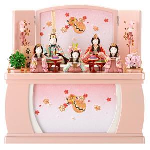 限定品 ひな人形 雛人形 一秀 木目込み 収納飾り 五人飾り 安土雛 h283-miik-111|2508-honpo