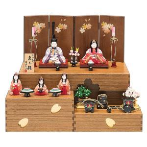 雛人形 真多呂 ひな人形 雛 木目込人形飾り コンパクト収納飾り 五人飾り 真多呂作 古今人形 東山雛 h313-mt-1370|2508-honpo