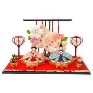 雛人形 コンパクト ひな人形 雛 平飾り 親王飾り 春花雛 h283-rk-1-0714|2508-honpo