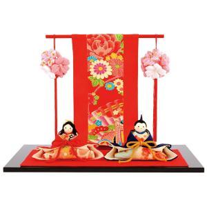 ひな人形 雛人形 リュウコドウ コンパクト 親王飾り 平飾り 別注 たれみみうさぎ雛 h283-rkcp-1-664|2508-honpo