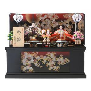 雛人形 ひな人形 コンパクト 収納飾り 親王飾り 十二単 天使のはごろも 新型前開き収納 h283-sscp-44a-119|2508-honpo