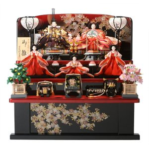 雛人形 ひな人形 三段飾り 五人飾り 十二単 天使のはごろも h283-sscp-44a-32|2508-honpo