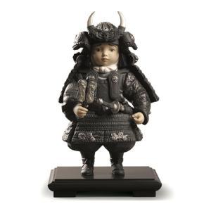 リヤドロ 五月人形 子供大将飾り 武者人形 Lladro 磁器人形 若武者 Silver 台座付 限定3500体 h285-01013047|2508-honpo
