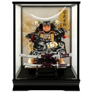 五月人形 伊達政宗 子供大将飾り ケース飾り 藤翁作 子供大将伊達 銀 オルゴール付 h305-fn-165-909|2508-honpo