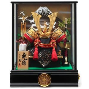 五月人形 久月 コンパクト 兜ケース飾り 兜飾り 兜取付ケース入 オルゴール付 h305-k-k51006|2508-honpo