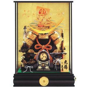 五月人形 久月 兜ケース飾り 兜飾り 12号兜 取付ケース入 オルゴール付 h305-k-k51806 D-66|2508-honpo
