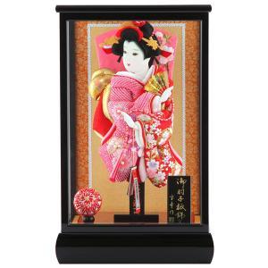 羽子板 正月飾り ケース飾り 正絹造り 小雪輪枝桜 赤 10...