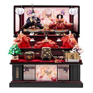 雛人形 久月 ひな人形 雛 三段飾り 五人飾り よろこび雛 十番親王 小三五官女 h313-k-1019 D-14|2508-honpo